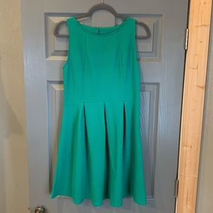 Women's green fit and flare dress